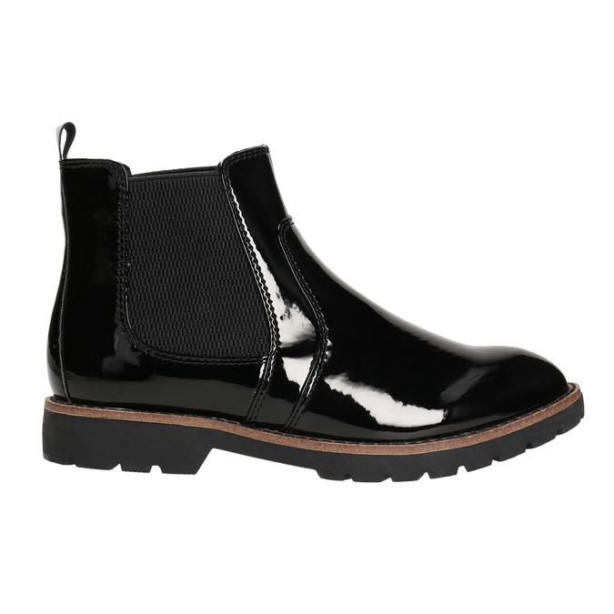 Lakované Chelsoa Boots na výraznej podošve bata, čierna, 591-6603 - 15