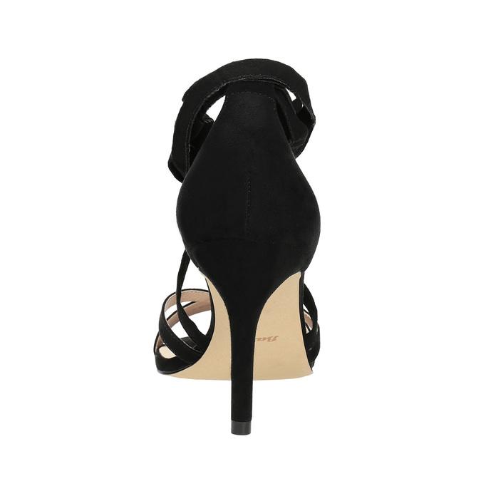 Dámske šnurovacie sandále na podpätku insolia, čierna, 769-6613 - 17