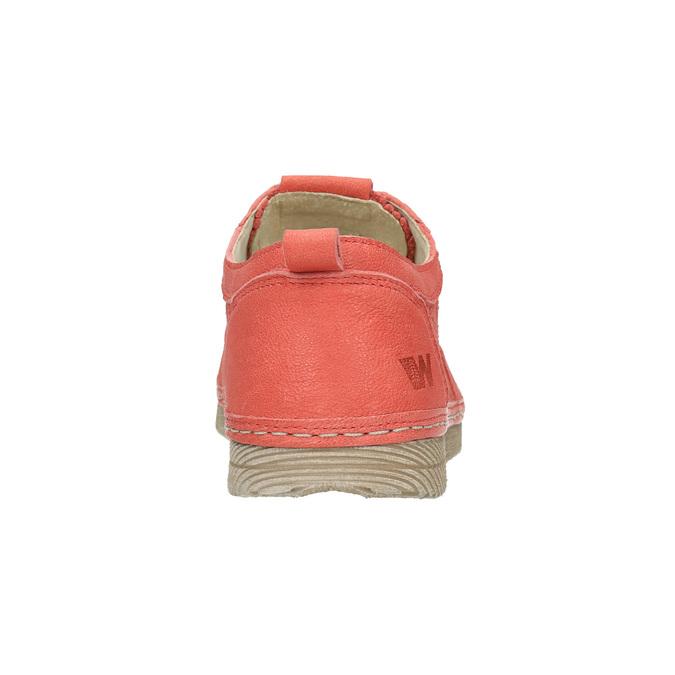 Dámske kožené poltopánky červené weinbrenner, oranžová, 526-5636 - 17