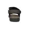 Pánske hnedé kožené sandále na suchý zips weinbrenner, 866-4631 - 15