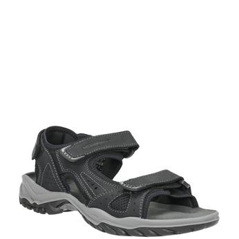Kožené pánske sandále weinbrenner, čierna, 866-6630 - 13