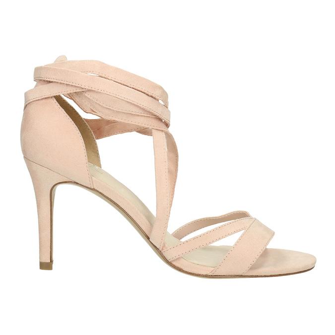 Šnurovacie sandále na podpätku insolia, ružová, 769-5613 - 15