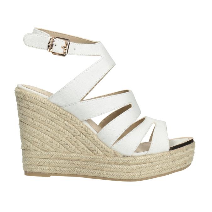 Sandále na platforme bata, biela, 759-1603 - 15