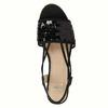 Dámske sandále na prírodnej platforme bata, čierna, 661-6608 - 19