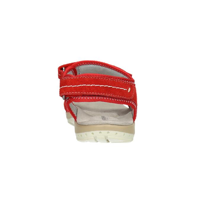 Červené kožené dámske sandále weinbrenner, červená, 566-5608 - 17