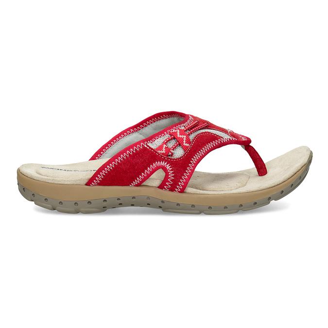 Dámske žabky v športovom štýle weinbrenner, červená, 566-5611 - 19