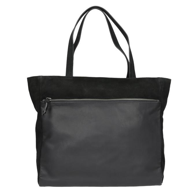Dámska kožená Shopper kabelka bata, čierna, 963-6191 - 26