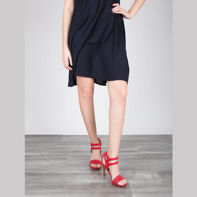 Červené sandále na ihličkovom podpätku bata, červená, 769-5603 - 18
