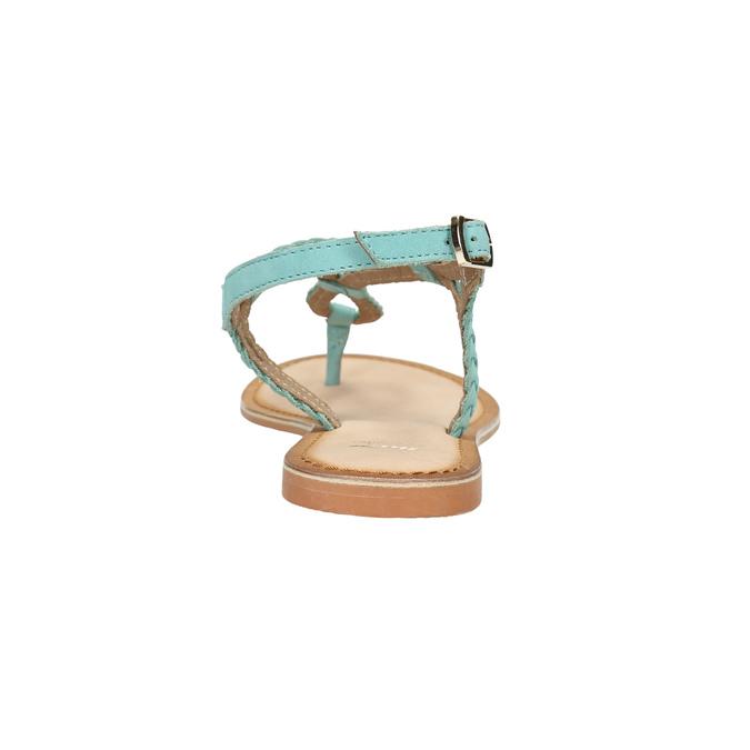 Kožené modré sandále s prepletením bata, modrá, 566-9621 - 17