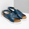 Dámske kožené sandále weinbrenner, modrá, 566-9628 - 26