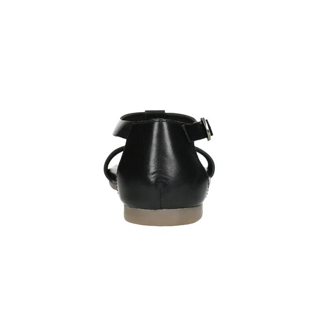 Čierne kožené sandále bata, čierna, 564-6600 - 17