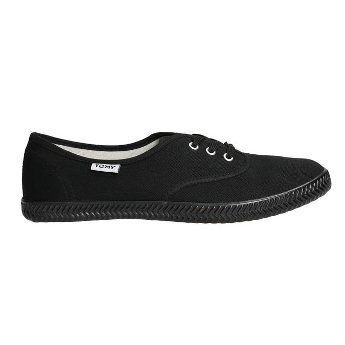 Čierne dámske tenisky tomy-takkies, čierna, 589-6180 - 15