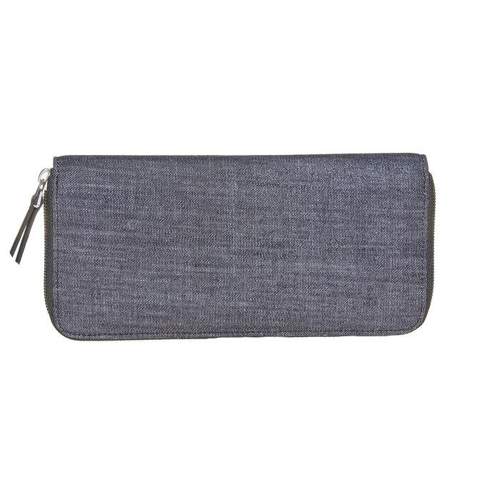 Dámska peňaženka s kovovými cvokmi bata, modrá, 949-9121 - 26