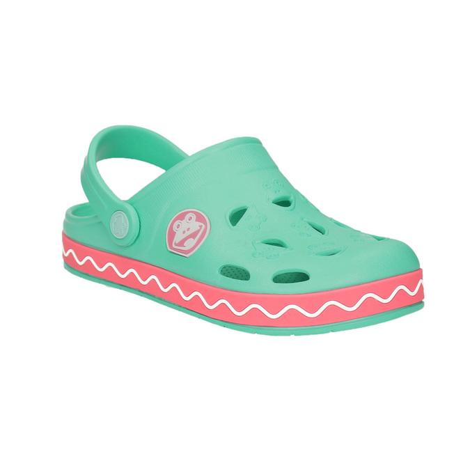 Dievčenské sandále so žabkou coqui, zelená, 272-7602 - 13