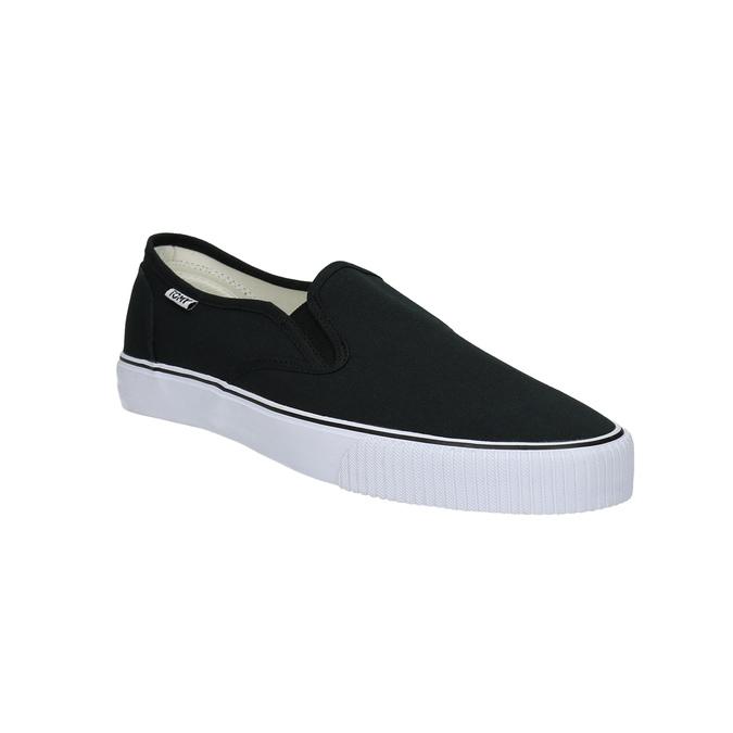 Čierne pánske Slip-on tomy-takkies, čierna, 889-6229 - 13