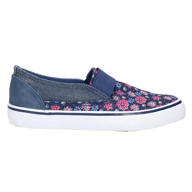 Dievčenská obuv v štýle Slip-on mini-b, modrá, 329-9611 - 15
