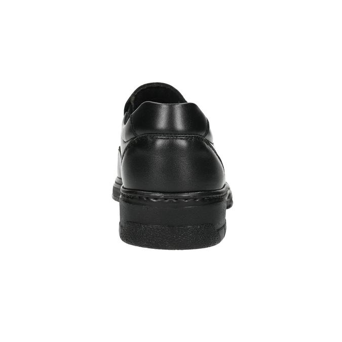 Pánske kožené mokasíny pinosos, čierna, 814-6622 - 17