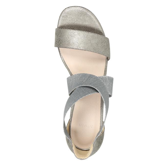 Dámske sandále na podpätku bata, šedá, 761-2614 - 19
