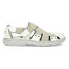 Pánske svetlé kožené sandále bata, biela, 866-1622 - 19