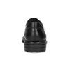 Čierne pánske kožené poltopánky s guľatou špičkou fluchos, čierna, 824-6451 - 15
