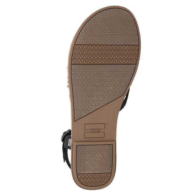 Dámske sandále medzi prsty toms, čierna, 561-6063 - 19