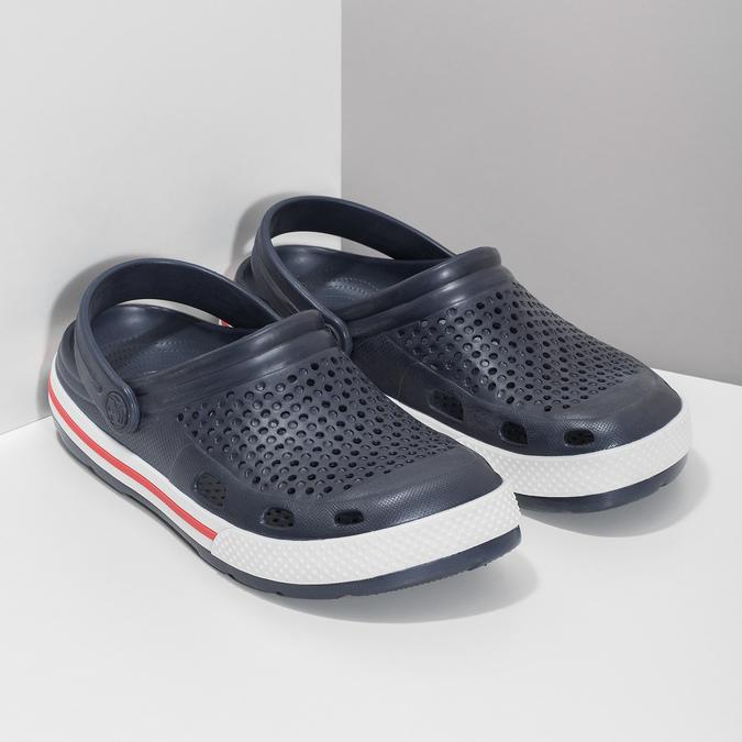 Dámske sandále typu Clogs coqui, modrá, 572-9611 - 26