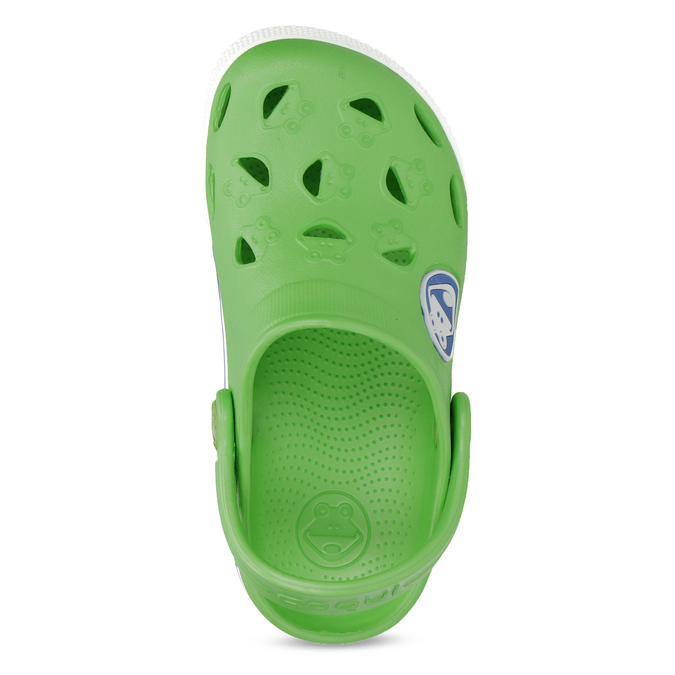 Detské zelené sandále so žabkou coqui, zelená, 272-7603 - 17
