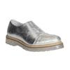 Dámske strieborné kožené poltopánky bata, strieborná, 536-1600 - 13
