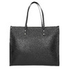 Kabelka s pleteným vzorom bata, čierna, 961-6540 - 26