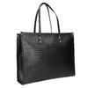 Kabelka s pleteným vzorom bata, čierna, 961-6540 - 13