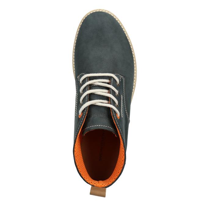Pánske kožené Chukka Boots weinbrenner, modrá, 846-9629 - 15