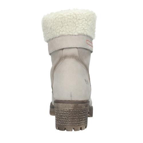 Kožená zimná obuv s kožúškom bata, béžová, 696-3336 - 15