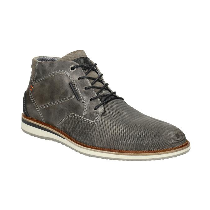 Kožená členková obuv šedá bata, šedá, 826-2912 - 13