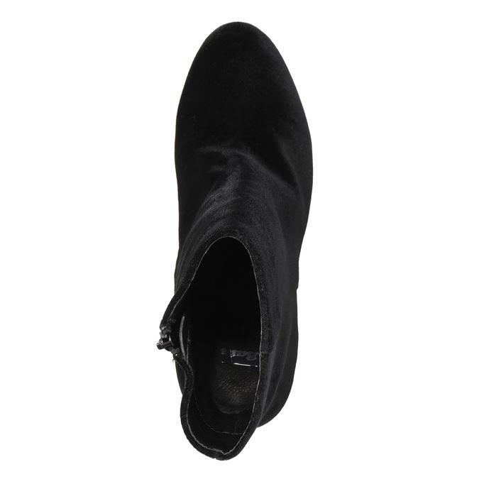 Čierne dámske čižmy na podpätku bata, čierna, 799-6616 - 19