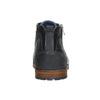 Kožená členková obuv so zipsom bata, modrá, 826-9911 - 17