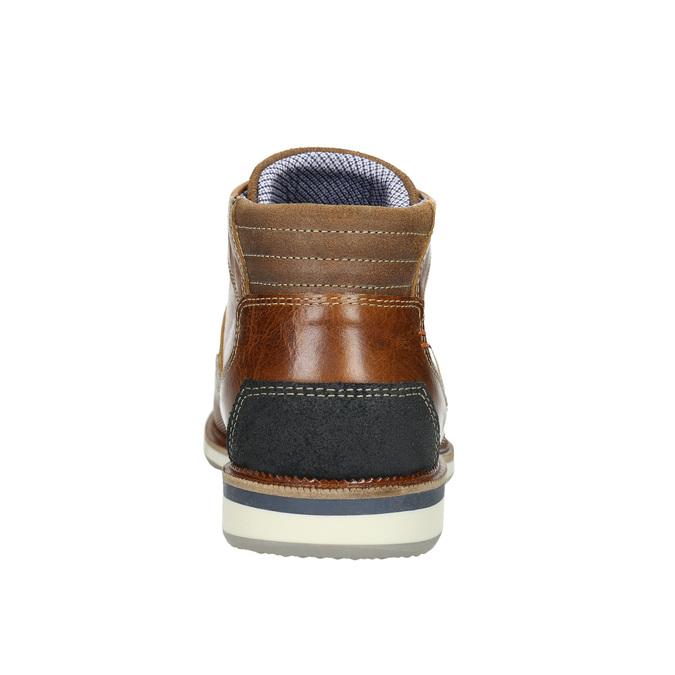 Ležérna členková obuv z kože bata, hnedá, 826-3912 - 17