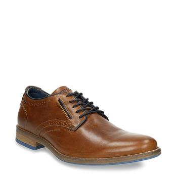 Ležérne kožené poltopánky bata, hnedá, 826-3910 - 13