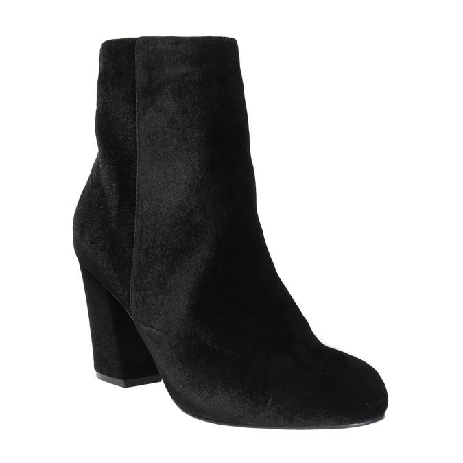Čierne dámske čižmy na podpätku bata, čierna, 799-6616 - 13