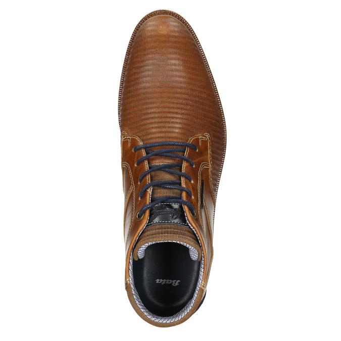 Ležérna členková obuv z kože bata, hnedá, 826-3912 - 26
