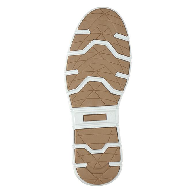 Členkové pánske tenisky z kože bata, čierna, 846-6641 - 19
