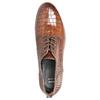 Kožené poltopánky so štruktúrou bata, hnedá, 526-4637 - 19
