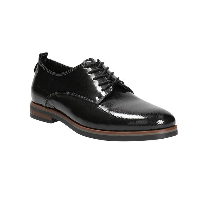 Dámske lakované poltopánky bata, čierna, 528-4600 - 13
