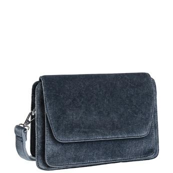 Dámska zamatová kabelka bata, šedá, 969-2662 - 13