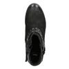 Členkové dámske čižmy s cvokmi bata, čierna, 596-6658 - 15