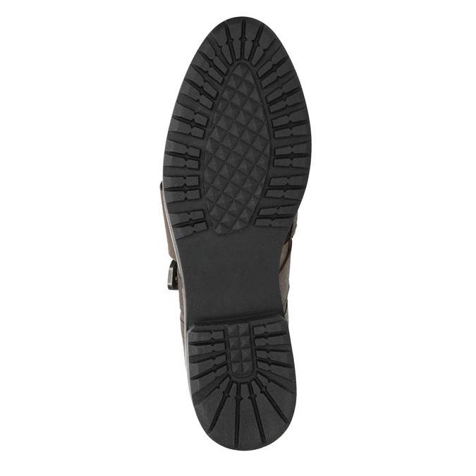 Dámske kožené poltopánky bata, hnedá, 516-2612 - 17