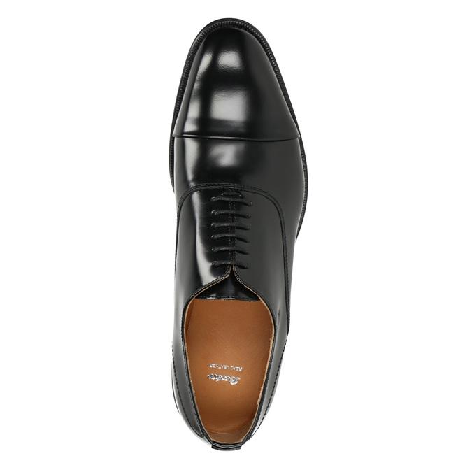 Čierne kožené Oxford poltopánky bata, čierna, 826-6671 - 15
