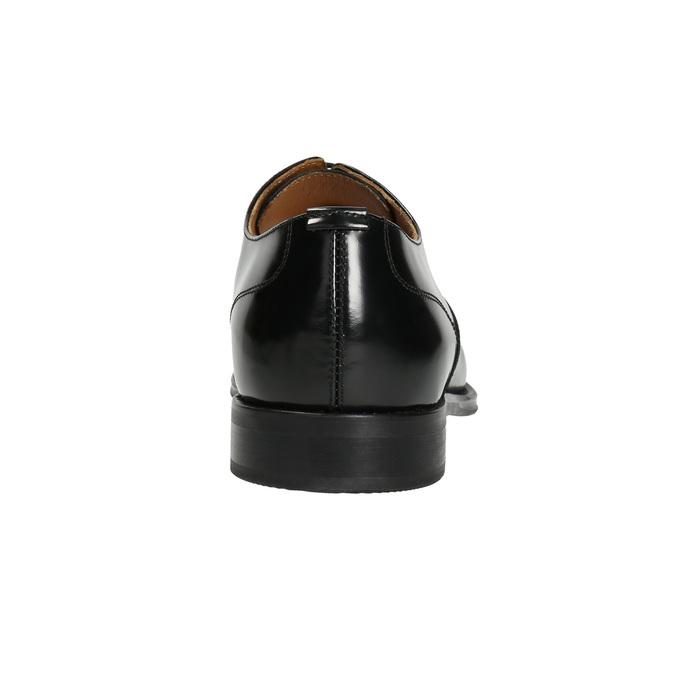 Čierne kožené Oxford poltopánky bata, čierna, 826-6671 - 16