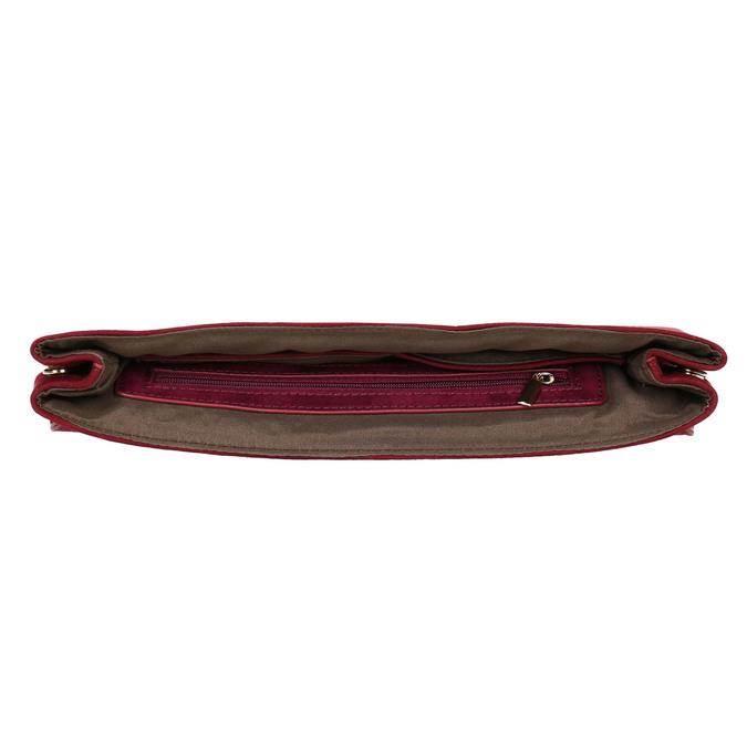 Dámska vínová listová kabelka bata, červená, 969-5665 - 15