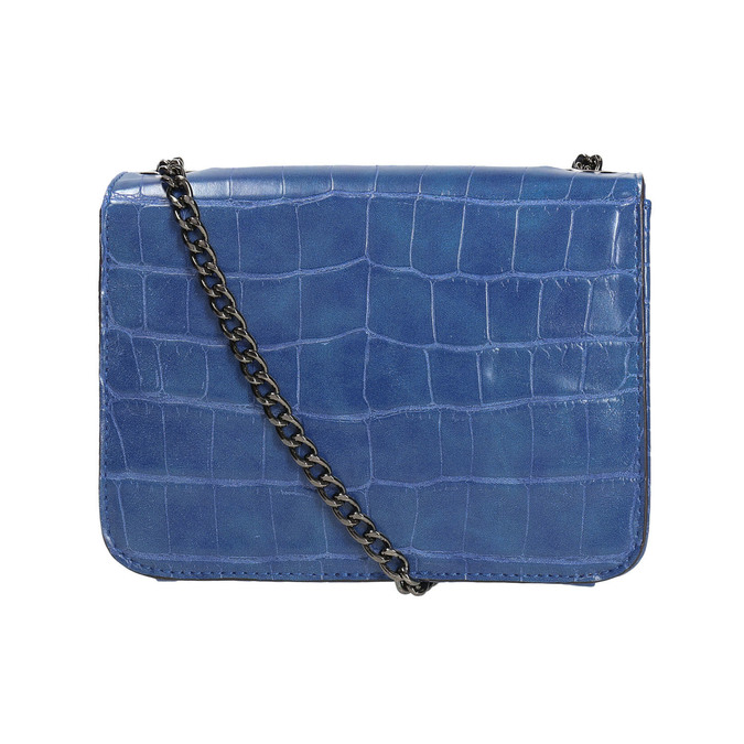 Modrá kabelka so štruktúrou bata, modrá, 961-9753 - 26
