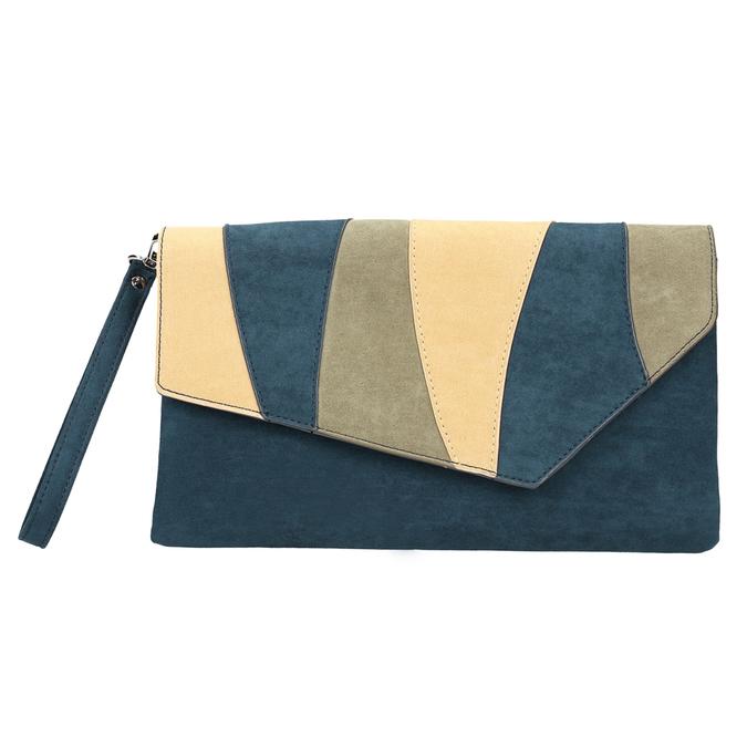Modrá dámska listová kabelka s pútkom bata, modrá, 969-9664 - 19